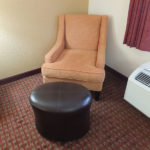 plush chair and ottoman